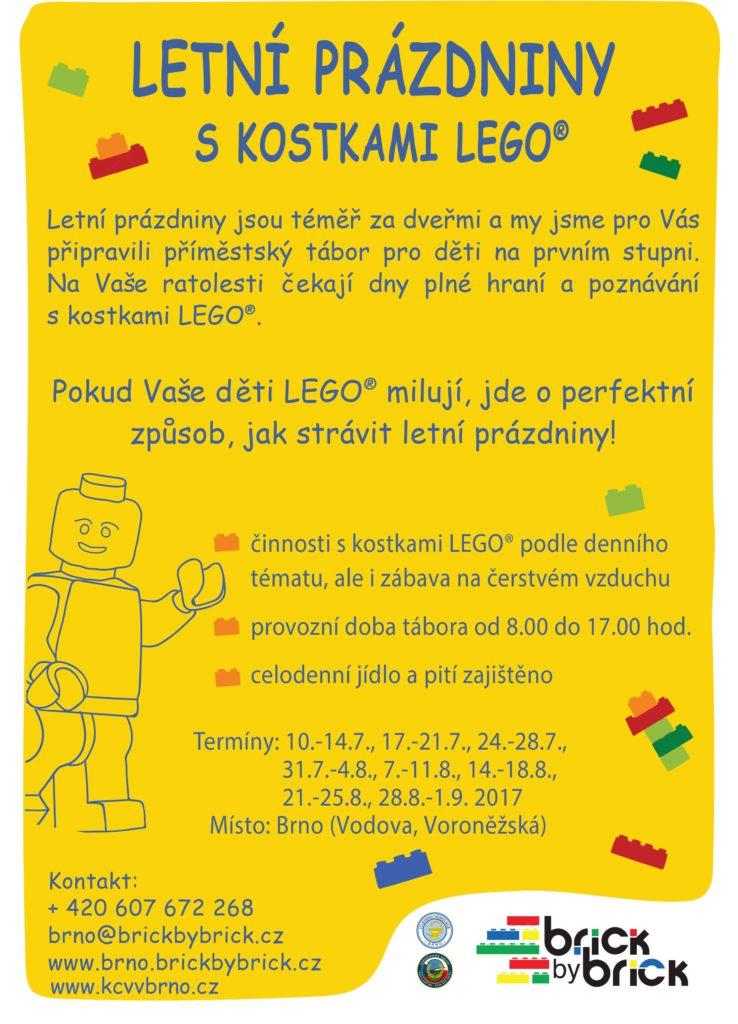 Leták - Letní tábor s kostkami LEGO