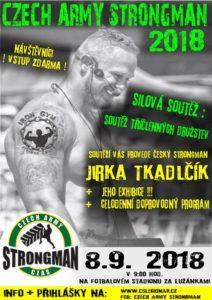 Czech Army Strongman 2018 - soutěž v silovém víceboji družstev.
